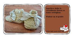 gehaakte slofjes & booties - beschikbare maten: 0 tot 24 maanden - op bestelling - wordt met de hand op maat en kleur gehaakt - www.vanmijaanjou.nl -
