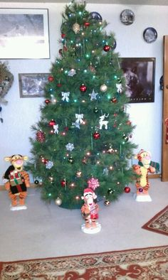 Christmas tree with tiggers