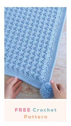 Crochet Baby Blanket Beginner, Crochet Baby Blanket Free Pattern, Crochet Square Patterns, Baby Knitting, Knitting Baby Blankets, Crocheted Baby Blankets, Easy Knit Blanket, Crochet Stitches For Blankets, Free Baby Blanket Patterns