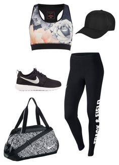 """Track n Field"" by freyadenning on Polyvore featuring NIKE, Ted Baker and Topshop"