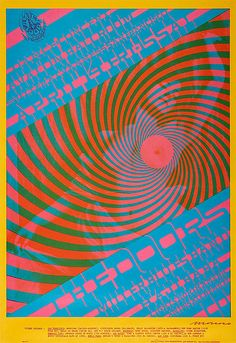The Doors - Victor Moscoso - Avalon Ballroom postcard handbill, 1967 via Dirty Funky Situation (Vibrating Color)