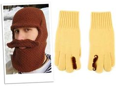 Friday Fashion Fun: Beard hat and moustache gloves - The Fashion Police