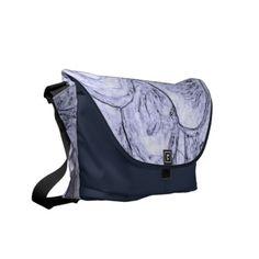Marbled Blue Edges Medium Bag by Janz Courier Bag