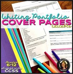 Editable Common Core Writing Portfolio Criteria Cover Sheets This IS included in my mega bundle: ALL of my WRITING RESOURCES GROWING BUNDLE. Writing Resources, School Resources, Teacher Resources, Teaching Ideas, Writing Ideas, Writing Prompts, Classroom Resources, Creative Writing, Classroom Ideas