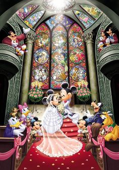 disney, wedding and mickey image on We Heart It