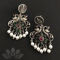 925 Silver by PraDe #PraDeJewels #925silver #24kGoldplated #mangtika #kada #Earrings #Neckpiece #Rings #Nosepin #kemp #kundan#silverjewelry #silver #fashion #fashiongoals #indianblogger #uniquejewelry #instagood #jewelgram Silver Jewellery, Silver Earrings, Jewelery, Stud Earrings, Indian Designer Suits, Neck Piece, 925 Silver, Studs, Brooch