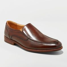 11aa4000ca37 Men s Perry Leather Loafer Dress Shoes - Goodfellow  amp  Co Brown 13  Gender  Male