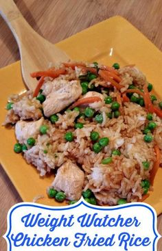 Weight Watchers Chicken Fried Rice!!! Easy to make at home and a huge hit with the kids!