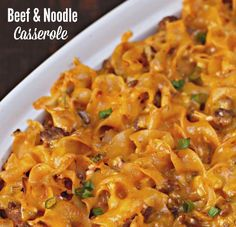 Beef & Noodle Casserole  Season meat with minced garlic, onion, oregano and seasoned salt when browning. Use basil tomato sauce or add basil to regular tomato sauce.