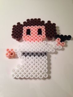 HAMA PERLER BEADS / PERLES À REPASSER / STRIJKPARELS - Star Wars Princess Leia Perler Beads by Kate Chaplin