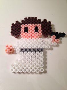 HAMA PERLER BEADS / PERLES À REPASSER / STRIJKPARELS - Star Wars Princess Leia Perler Beads by Kate Chaplin