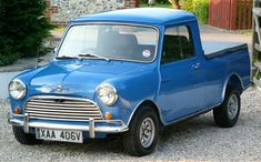 It is the original Mini Cooper anniversary this year and as a tribute we are dedicating this article to the iconic little car. Vintage Pickup Trucks, Ford Pickup Trucks, Classic Cars British, Classic Mini, Hot Rod Trucks, Mini Trucks, Outlander Phev, Mini Morris, Automobile