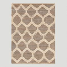 One of my favorite discoveries at WorldMarket.com: Gray Jiya Flat-Woven Hemp Rug