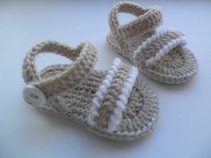 Crochet baby sandals baby sandals baby booties by editaedituke