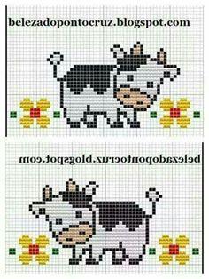 Cow cross stitch.