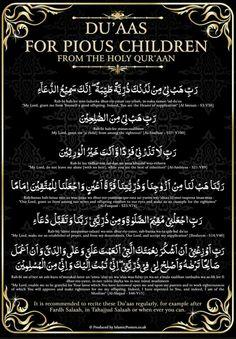 Dua for pious children