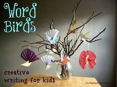 Word Birds for creative writing ideas with Kids from nuture store {perfect for The Great Backyard Bird Count!}
