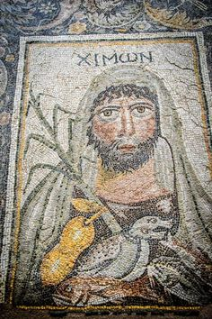 """Winter"" from the Four Seasons Mosaic, Villa of the Falconer, Argos (Late Roman). ""old man winter"" Ancient Rome, Ancient Greece, Ancient History, Roman Artifacts, Ancient Artifacts, Roman Gods, Pompeii And Herculaneum, Greek Gods And Goddesses, Art Antique"