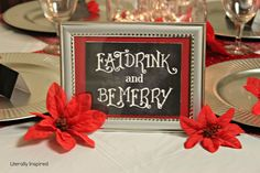 Table settings - a must for any party! #chalkboard #DIY