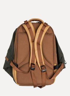 Côte&Ciel - 28037 Leather and Grid Tech Meuse Backpack https://cruvoir.com/cote-et-ciel/3488-28037-leather-and-grid-tech-meuse-backpack-gridtech