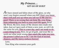 Let go of Guilt