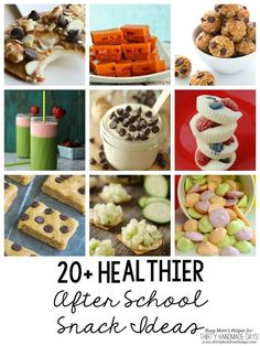20+ Healthier After School Snack Ideas / Awesome ideas for feeding the kids right after school on www.thirtyhandmadedays.com