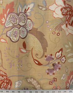 Bennison Pumpkin | Online Discount Drapery Fabrics and Upholstery Fabric Superstore!