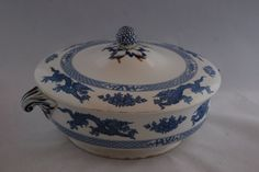 Booth s Silicon China Oriental Pattern Lidded Serving Dish Dragons