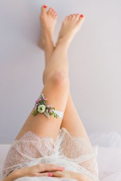 Floral Wedding Garter-by The Garter Girl