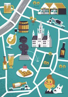 Map of Brussels - Diarmuid O Cathain
