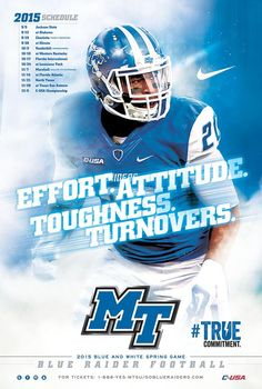 Middle Tennessee 2015 Football Poster