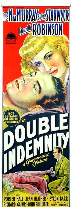 Metal Sign Vintage Look Reproduction 1944 Double Indemnity