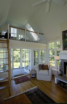 Small Home Interior--small space, less fuss :) This small home doesn't seem small...it has all the amenities of its larger cousin, with just as grand a view.