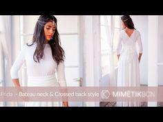 7cf64ac6ee Frida - Bateau neck   Crossed back wedding style 04 mimetik. Mimetik  BcnVestidos ...
