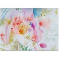 Trademark Fine Art Flower Dreams Canvas Art by Sheila Golden, Size: 8 x 24, Multicolor