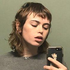 Short Mullet, Curly Mullet, Modern Mullet, Mullet Haircut, Mullet Hairstyle, Hair Inspo, Hair Inspiration, Queer Hair, Short Hair Cuts