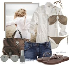 Beach Day, created by cynthia335 on Polyvore