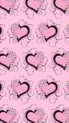 Pink Heart Wallpaper...By Artist Unknown...