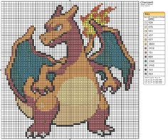 This website has so many Pokemon cross stitch patterns (and other stuff too).