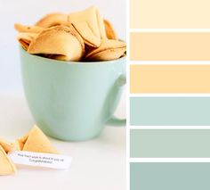 Fortune cookie inspired color palette, mint and vanilla color palette #colorpalette
