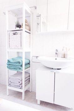 7 furnishing ideas for a beautiful bathroom with IKEA // advertising - badezimmer_ideen_einrichten_tipps_ikea_b. Kitchen Ikea, Ikea Bathroom, Small Bathroom, Bathroom Ideas, Ikea Deco, Closet Ikea, Small Space Bedroom, Bedroom Storage, Beautiful Bathrooms