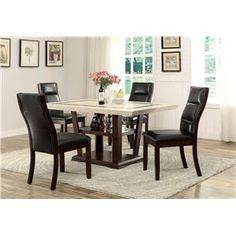 Lacombe+5+Piece+Rectangular+Table+Set+with+Parson+Side+Chairs