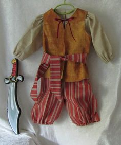 Toddler's Pirate Costume 100% Cotton: Shirt by EraOfMakeBelieve