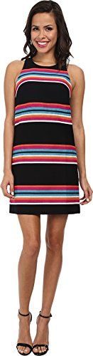 Trina Turk Womens Loma Woven Stripe Sleeveless Dress Multi 2 ** See this great product.