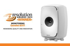 """#Genelec is proud to announce that our small three-way monitor system, the 8351, has been declared winner in the """"Resolution awards 2015"""" within the monitoring category. Read more: buzz.mw/bajxs_f #TheSonicReference"""