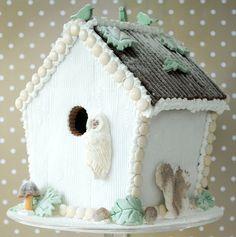 My Winter Woodland Gingerbread Bird House by toriejayne, via Flickr gluten free gingerbread house