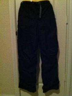 REI Snow Pants Fleece-Lined Ski Pants Size XL 16/18 With Growth Tuck