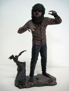 Dark Shadows Werewolf MPC 1969 1 8 Model Kit Pro Build Up Barnabas Collins RARE | eBay