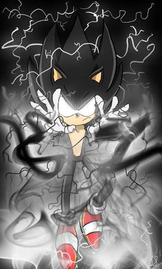 Dark Sonic - Drawing by SonicTheHedgehogBG on DeviantArt Sonic The Hedgehog, Silver The Hedgehog, Shadow The Hedgehog, Hedgehog Art, Dark Sonic, Sonic And Amy, Sonic Franchise, Sonic Adventure, Sonic Fan Characters