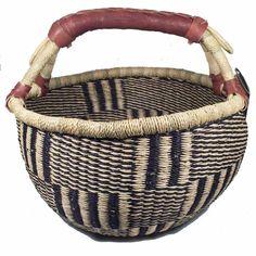 African Basket | Bolga Market Basket Medium - Tango Zulu Imports